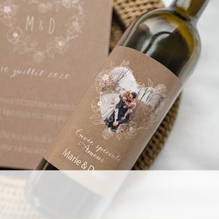 étiquette bouteille mariage avec photo