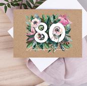 Carte invitation anniversaire 80 ans