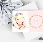 Carte invitation anniversaire fille