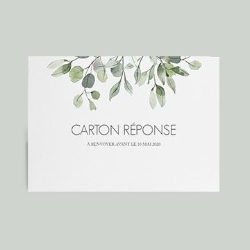 Carton reponse mariage