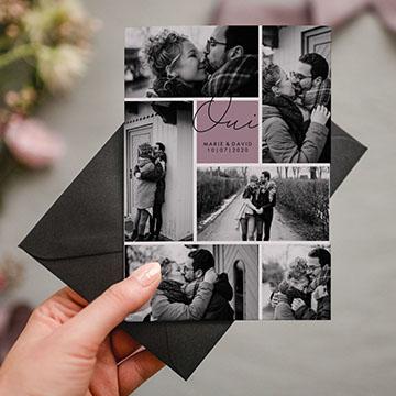 Faire-part mariage original avec photos