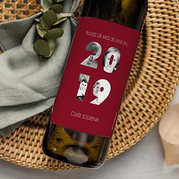 Étiquettes bouteille pour anniversaire