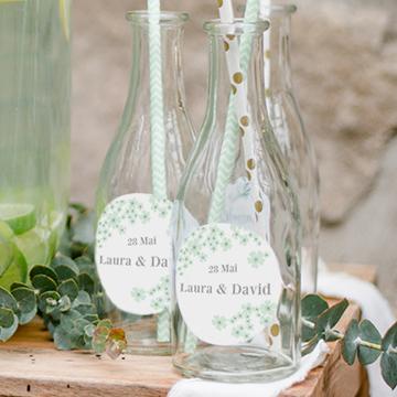 Étiquettes autocollantes petites bouteilles