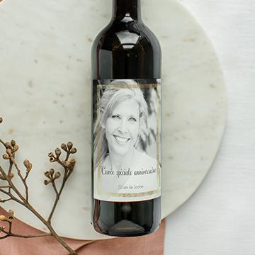 Étiquettes pour bouteilles avec photos