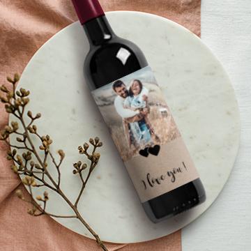 Etiquette bouteille Saint Valentin