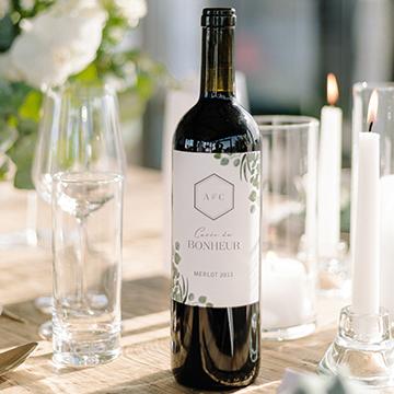 Étiquettes vin rouge