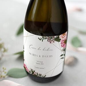 Etiquette bouteille pour champagne