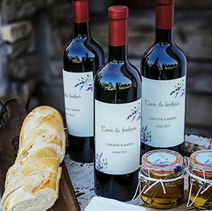 Etiquette pour bouteille vin rougel