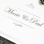 Faire-part mariage classique