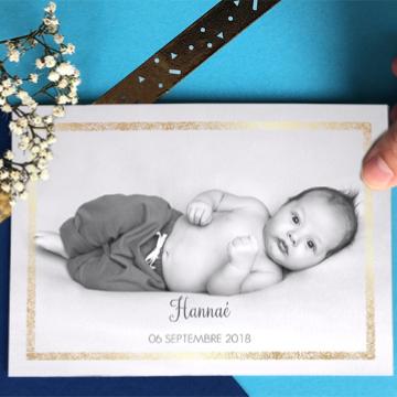 Faire-part naissance photo