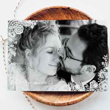 Cartes de remerciements mariage champetre