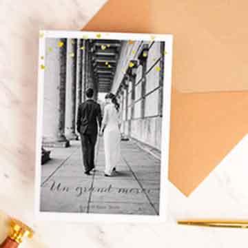 meilleures ventes cartes remerciements mariage