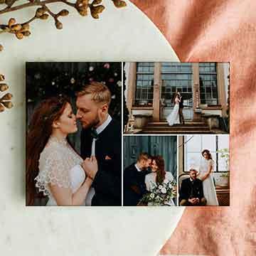 Cartes remerciements mariage multi-photos