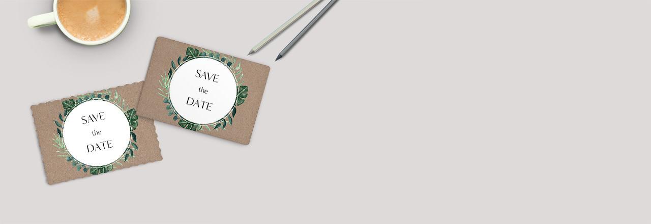 Save-the-Date-Karten Postkartenstil