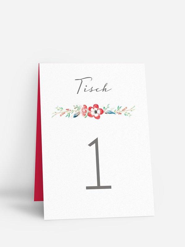 Tischnummer Blossom