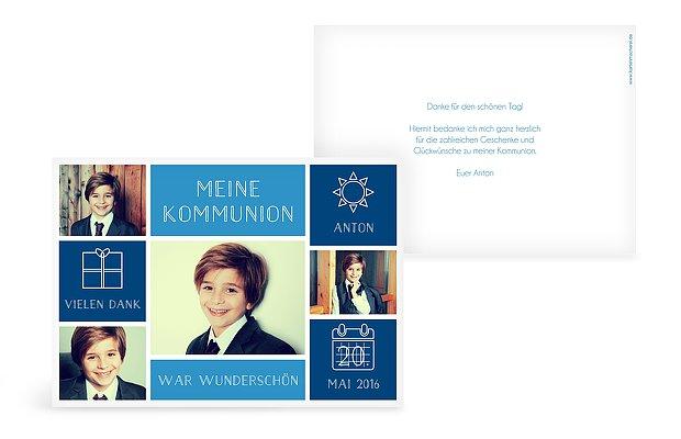 Danksagungskarten Zur Kommunion Individuell Gestalten
