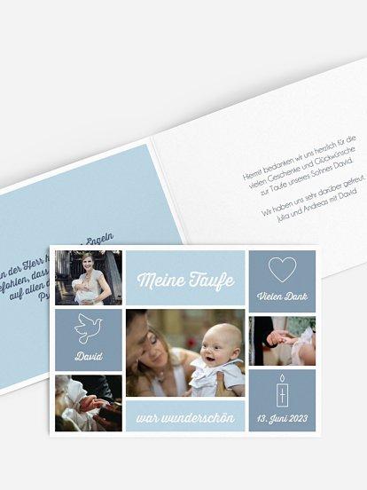 Danksagungskarten Zur Taufe Persönliche Danksagungen Drucken