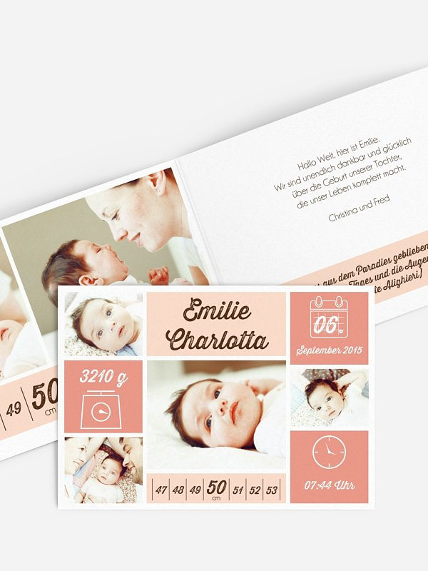 Geburtskarte Einzelstück