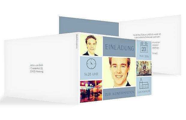 einladungskarten konfirmation: persönliche karten gestalten, Einladung