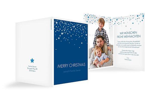 Weihnachtskarte Sternenhimmel