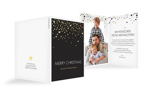 """Weihnachtskarte """"Sternenhimmel"""""""