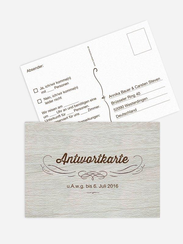 Antwortkarte Hochzeit Rustikal