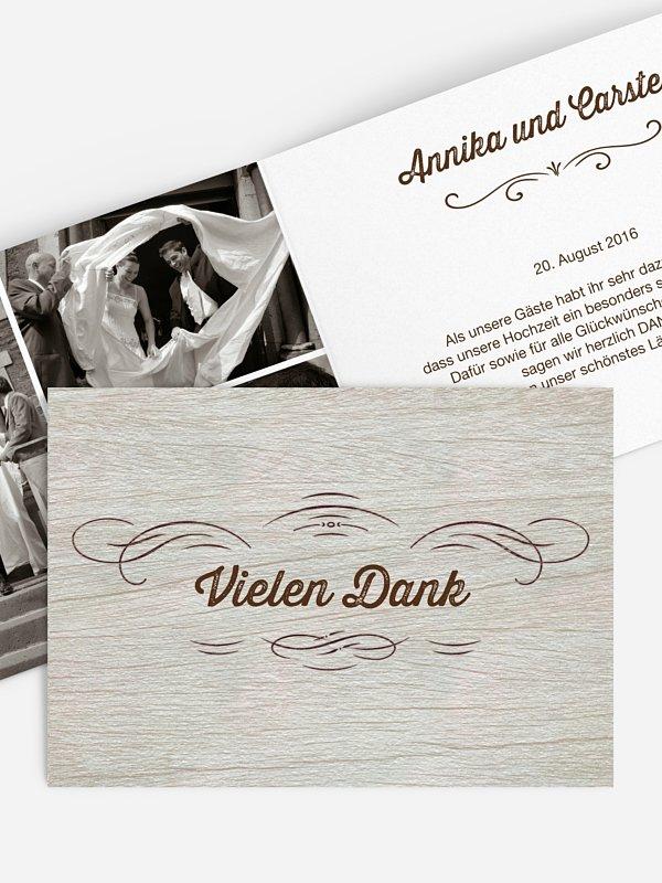 Dankeskarte Hochzeit Rustikal