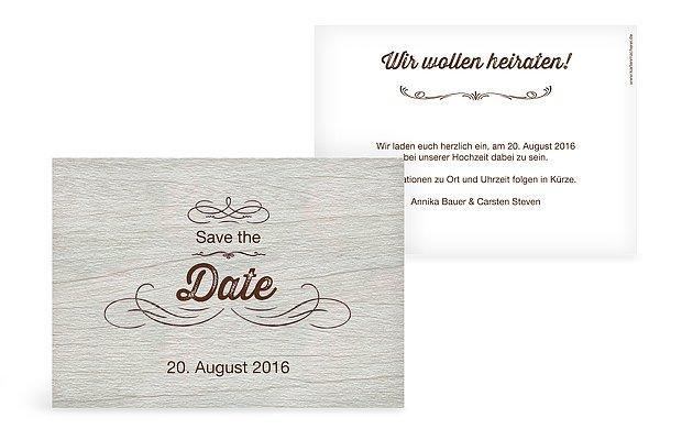"Save-the-Date Karte ""Rustikal"""