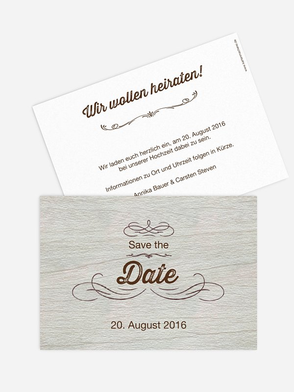 Save-the-Date Karte Rustikal