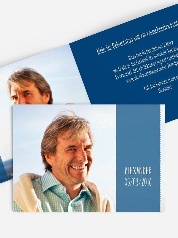 Einladung 50. Geburtstag Blickfang