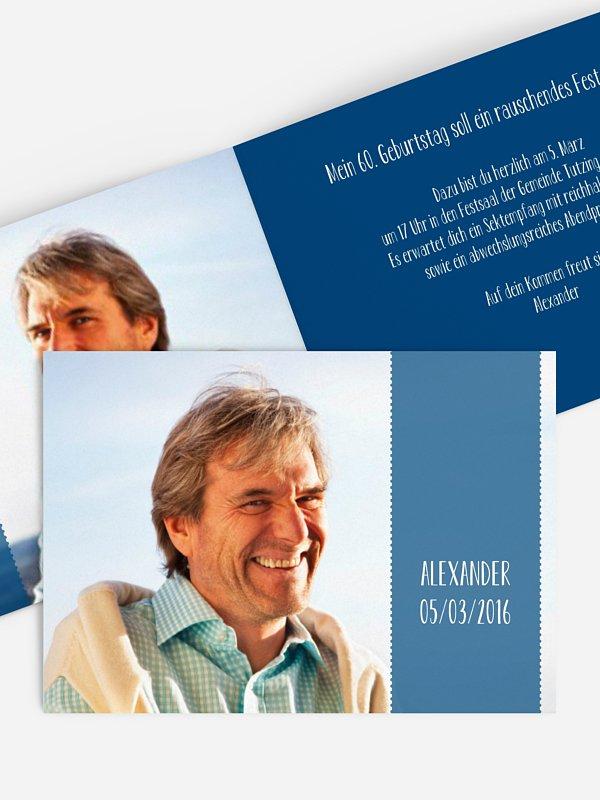 Einladung 60. Geburtstag Blickfang
