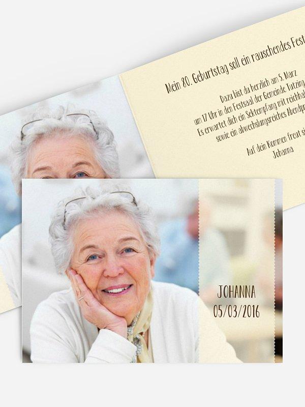 Einladung 80. Geburtstag Blickfang