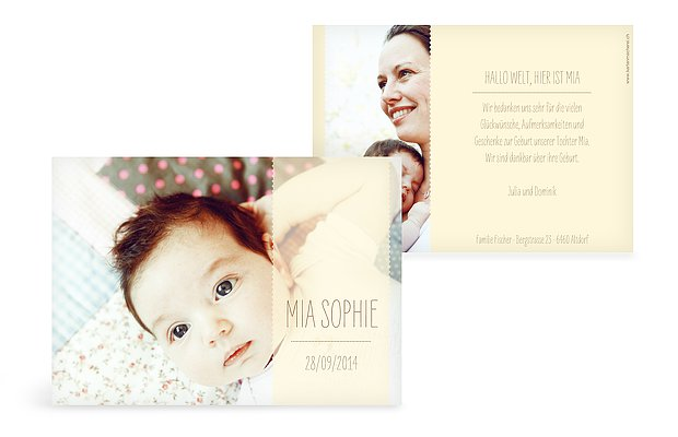 Geburtskarte Blickfang