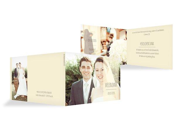 """Dankeskarte Hochzeit """"Blickfang"""""""