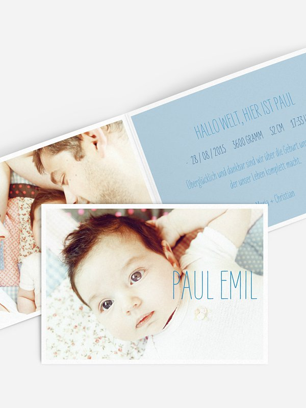 Geburtskarte Farbenpracht