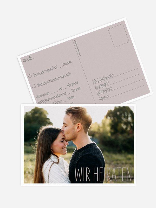 Antwortkarte Hochzeit Farbenpracht