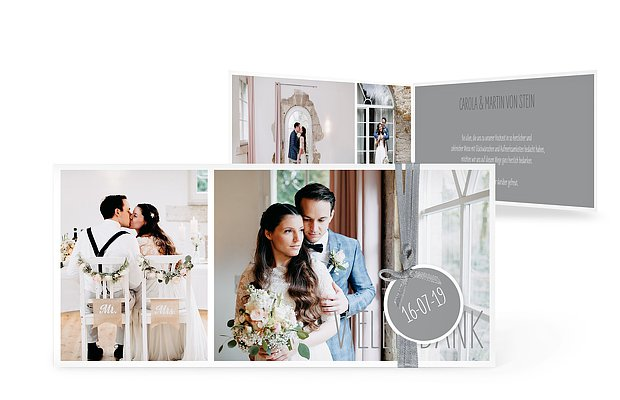Danksagungskarten Zur Hochzeit Dankeskarten In 1 2 Tagen