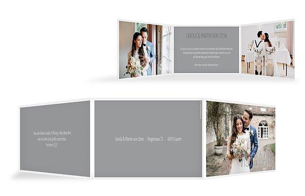 Dankeskarte Hochzeit Farbenpracht