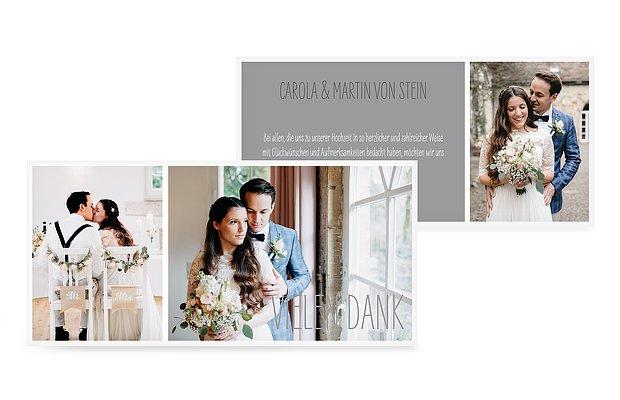Dankeskarte Hochzeit Farbenpracht; Fotowand