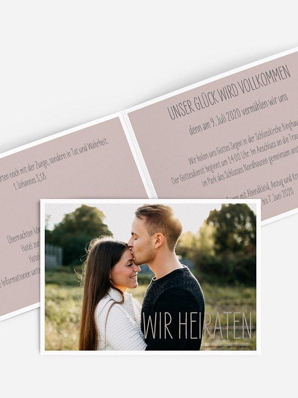 Hochzeitseinladung Farbenpracht