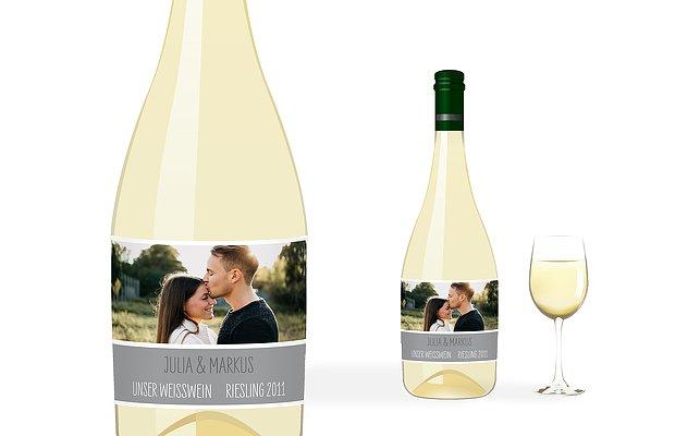 Flaschenetikett Hochzeit Farbenpracht