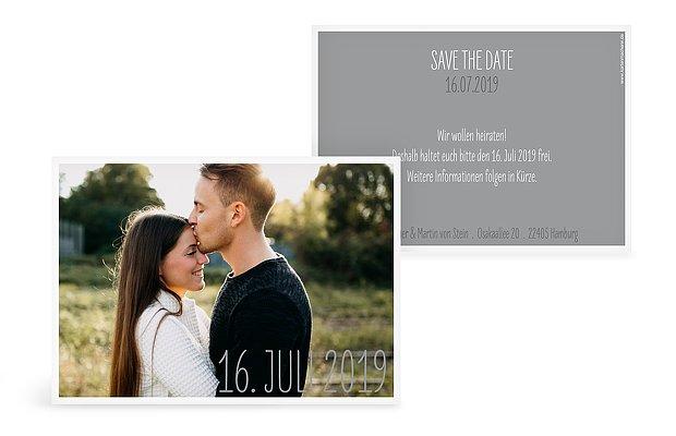 "Save-the-Date Karte ""Farbenpracht"""