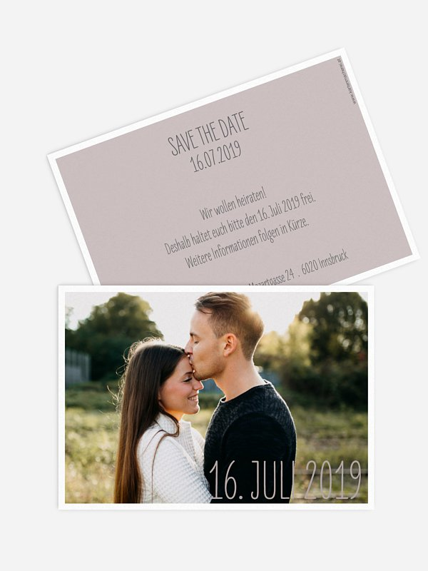 Save-the-Date Karte Farbenpracht