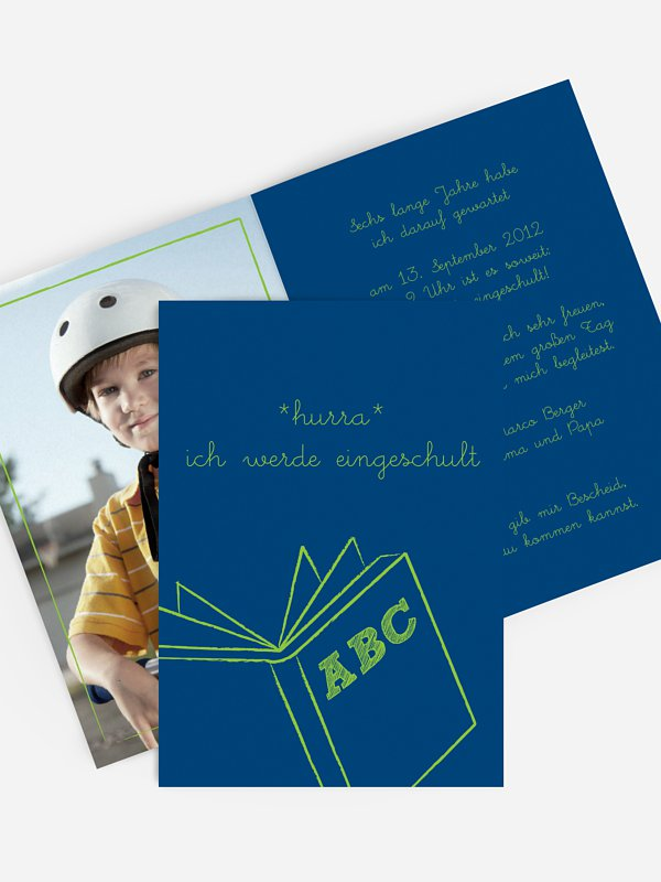 Einladung Einschulung Schulbuch