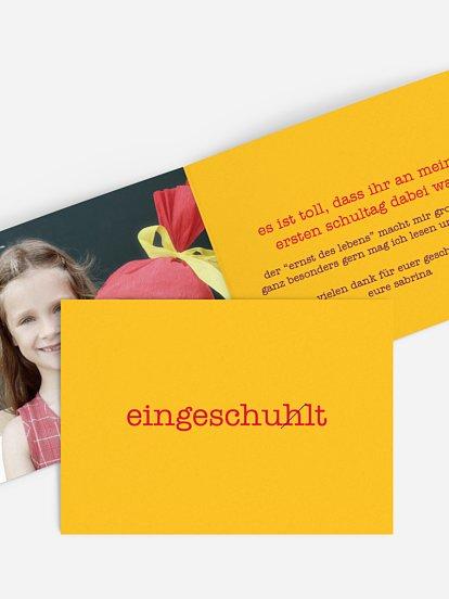 Danksagungskarten Zur Einschulung Dankeskarten Gestalten