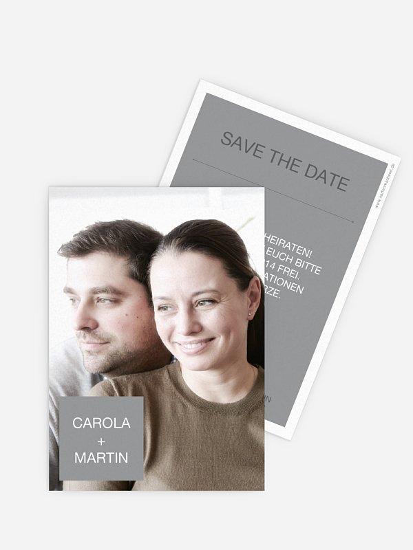 Save-the-Date Karte Glückspost