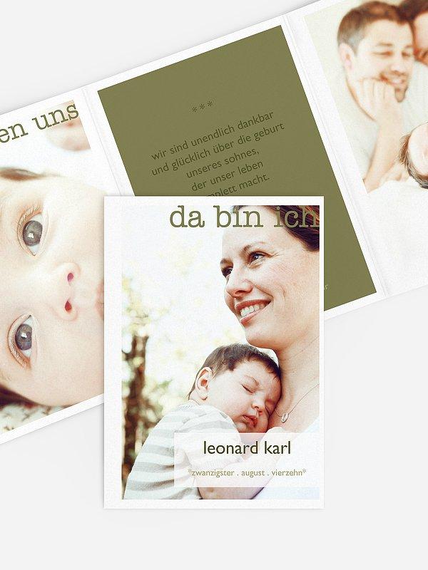 Geburtskarte Glücksmoment