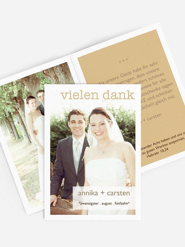 Dankeskarte Hochzeit Glücksmoment