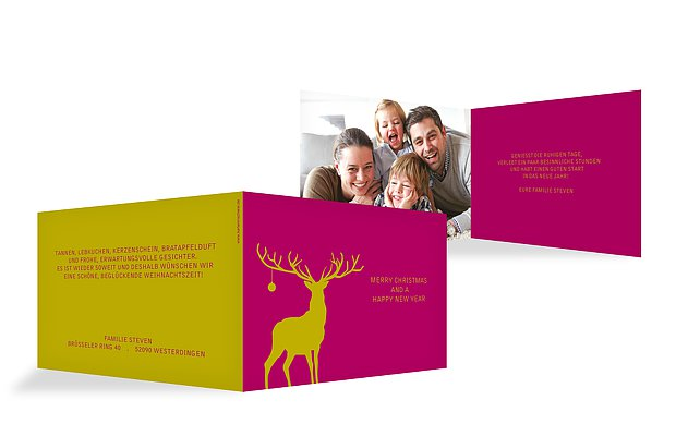 Weihnachtskarte Wild Christmas