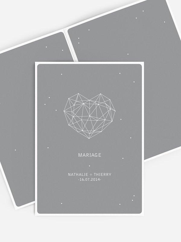 Livret de messe mariage Coeur d'étoile